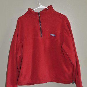 Vintage Eddie Bauer Men's Size L Red Fleece